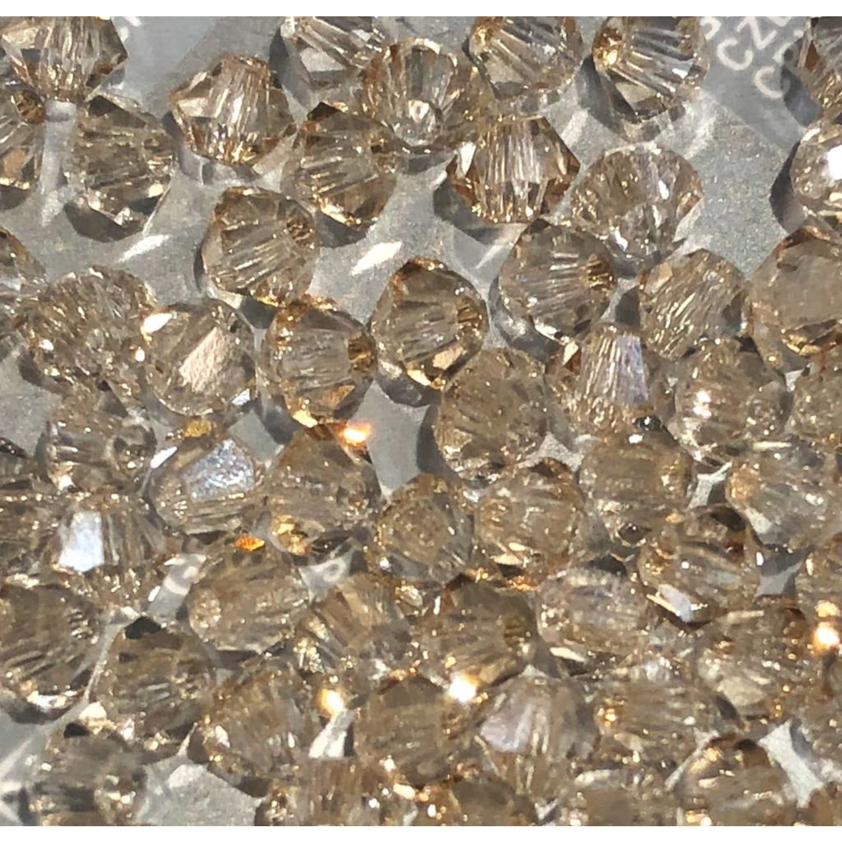 Preciosa Crystal 3mm Bicone Crystal Honey 144pcs