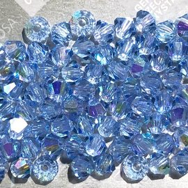 Preciosa Crystal 3mm Bicone Light Sapphire AB 144pcs