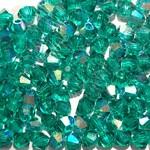 Preciosa Crystal 3mm Bicone Emerald AB 144pcs