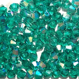 Preciosa Crystal 3mm Bicone Emerald AB 144pcs