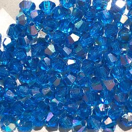 Preciosa Crystal 3mm Bicone Blue Capri AB 144pcs