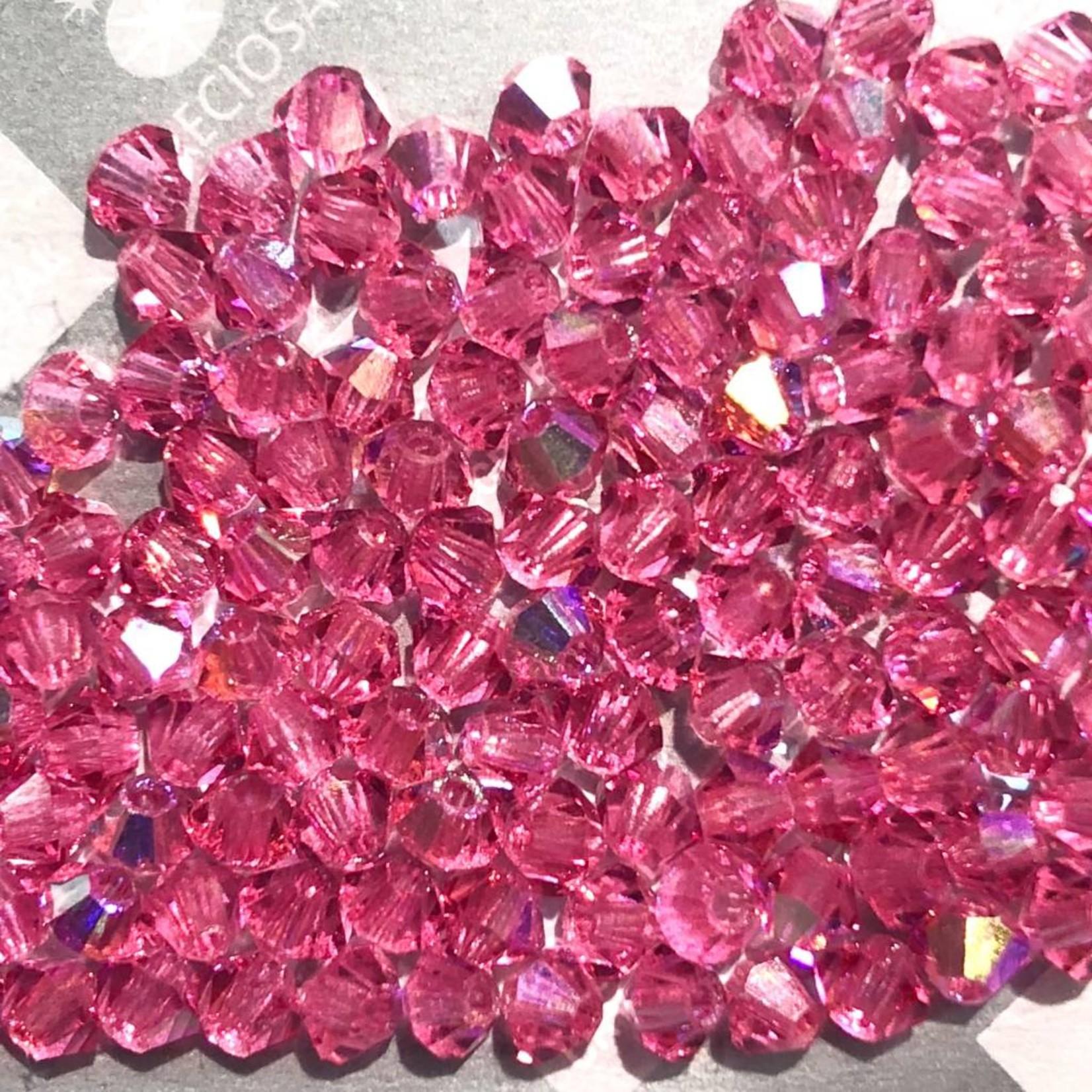 Preciosa Crystal 3mm Bicone Rose AB 144pcs