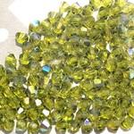 Preciosa Crystal 3mm Bicone Olivine AB 144pcs