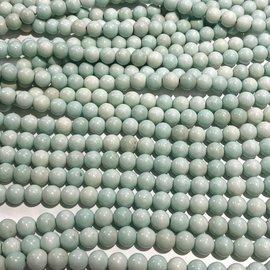 Natural QUARTZ Dyed Mint Green 8mm Round