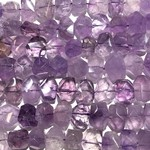 Lilac AMETHYST Nugget 15-22mm Faceted 1/2 Str