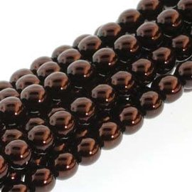 PRECIOSA Crystal Pearls 4mm Bronze 120pcs