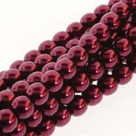 PRECIOSA Crystal Pearls 4mm Burgundy 120pcs