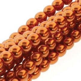 PRECIOSA Crystal Pearls 4mm Burnt Orange 120pcs