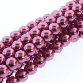 PRECIOSA Crystal Pearls 4mm Fuchsia 120pcs