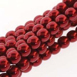 PRECIOSA Crystal Pearls 4mm Xmas Red 120pcs