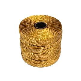 S-Lon Nylon Bead Cord Gold 77Yd Roll