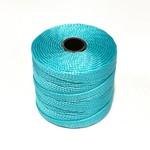 S-Lon Nylon Bead Cord Aqua .4mm 77 Yard Roll