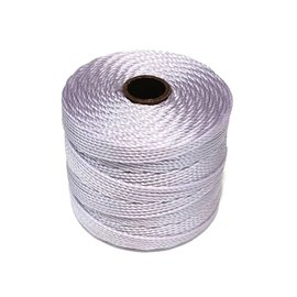 S-Lon Nylon Bead Cord Lavender .4mm 77 Yd Roll