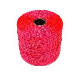 S-Lon Nylon Bead Cord Bright Coral 77 Yard Roll