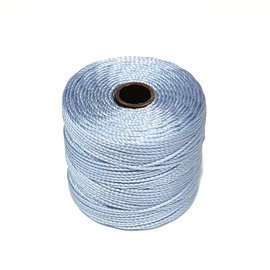 S-Lon Nylon Bead Cord Blue Morning .4mm 77 Yd Roll