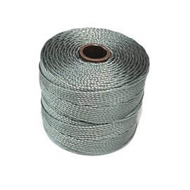 S-Lon Nylon Bead Cord Gunmetal .4mm 77Yd Roll