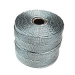 S-Lon Nylon Bead Cord Grey .4mm 77Yd Roll