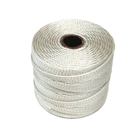 S-Lon Nylon Bead Cord Light Grey .4mm 77 Yard Roll