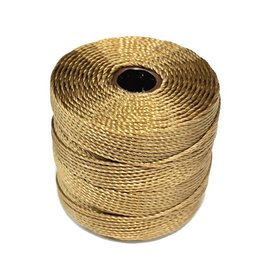 S-Lon Nylon Bead Cord Dark Tan .4mm 77 Yd Roll