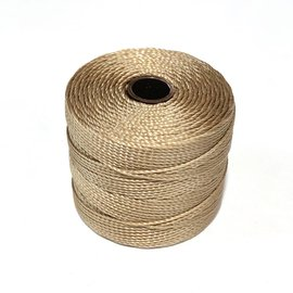 S-Lon Nylon Bead Cord Light Brown .4mm 77 Yd Roll