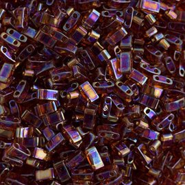 MIYUKI Tila Half Cut Dk Amber Transparent AB 10g