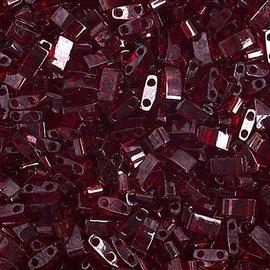 MIYUKI Tila Half Cut Dark Red Trans Luster 10g