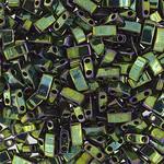 MIYUKI Tila Half Cut Opaque Metallic Green Iris 10g