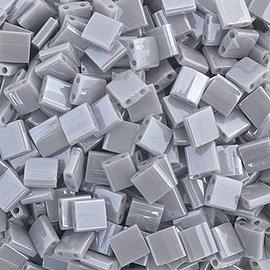 MIYUKI Tila Opaque Silver Gray Luster 10g