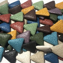 Assorted Synthetic Lava Diffuser Bead Triangles