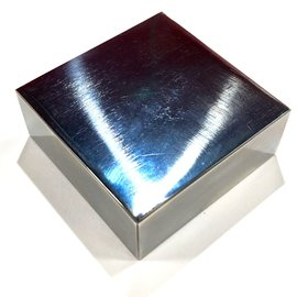 "Pro Quality Polished Steel Bench Block 2.5"" x 2.5"" x 1"""