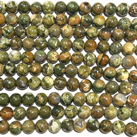 RAIN FOREST Jasper (Rhyolite) Natural 10mm