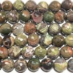 RHYOLITE JASPER Faceted Beads 12mm