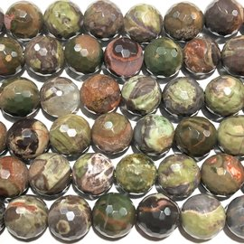 RHYOLITE JASPER Faceted Beads 12mm