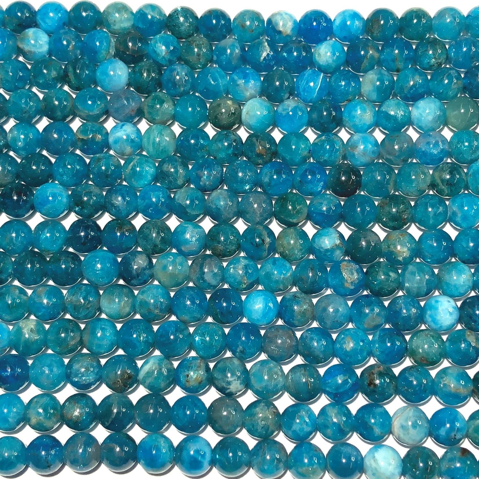 Natural Blue Apatite Grade A 6mm Round