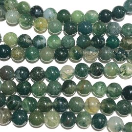 Natural Moss AGATE 6mm Round