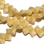 2-Hole SILKY Bead Ivory Luster 40pcs 5mm