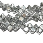 2-Hole SILKY Bead Bronze Aluminum 40pcs 5mm