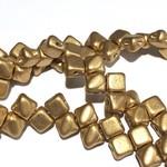 2-Hole SILKY Bead Bronze Pale Gold 40pcs 5mm