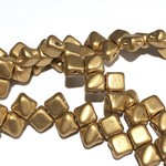 2-Hole SILKY Bead Bronze Pale Gold 40pcs 5mm