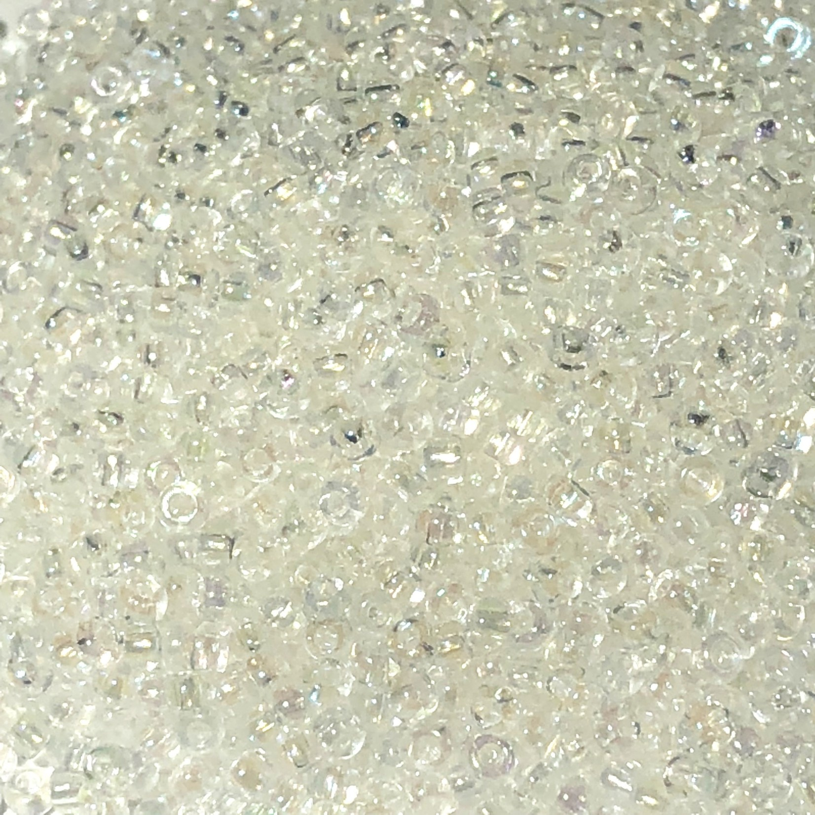 PRECIOSA 10-0 Seed Beads Transparent Iris Crystal 22.5g
