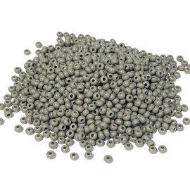 PRECIOSA 10-0 Seed Beads Opaque Grey 22.5g Tb