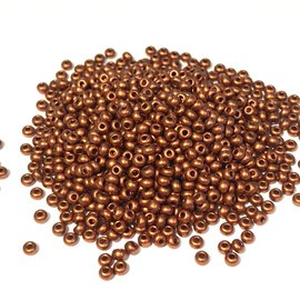PRECIOSA 10-0 Seed Beads Metallic Copper 22.5g