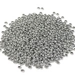 PRECIOSA 10-0 Seed Beads Metallic Silver 22.5g
