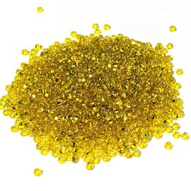 PRECIOSA 10-0 Seed Beads Silver Lined Yellow 22.5g