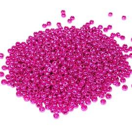 PRECIOSA 10-0 Seed Beads Metallic Pink 22.5g