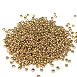 PRECIOSA 10-0 Seed Beads Gold 22.5g