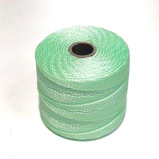 S-Lon Nylon Bead Cord Pastel Mint Green .4mm 77Yd Roll