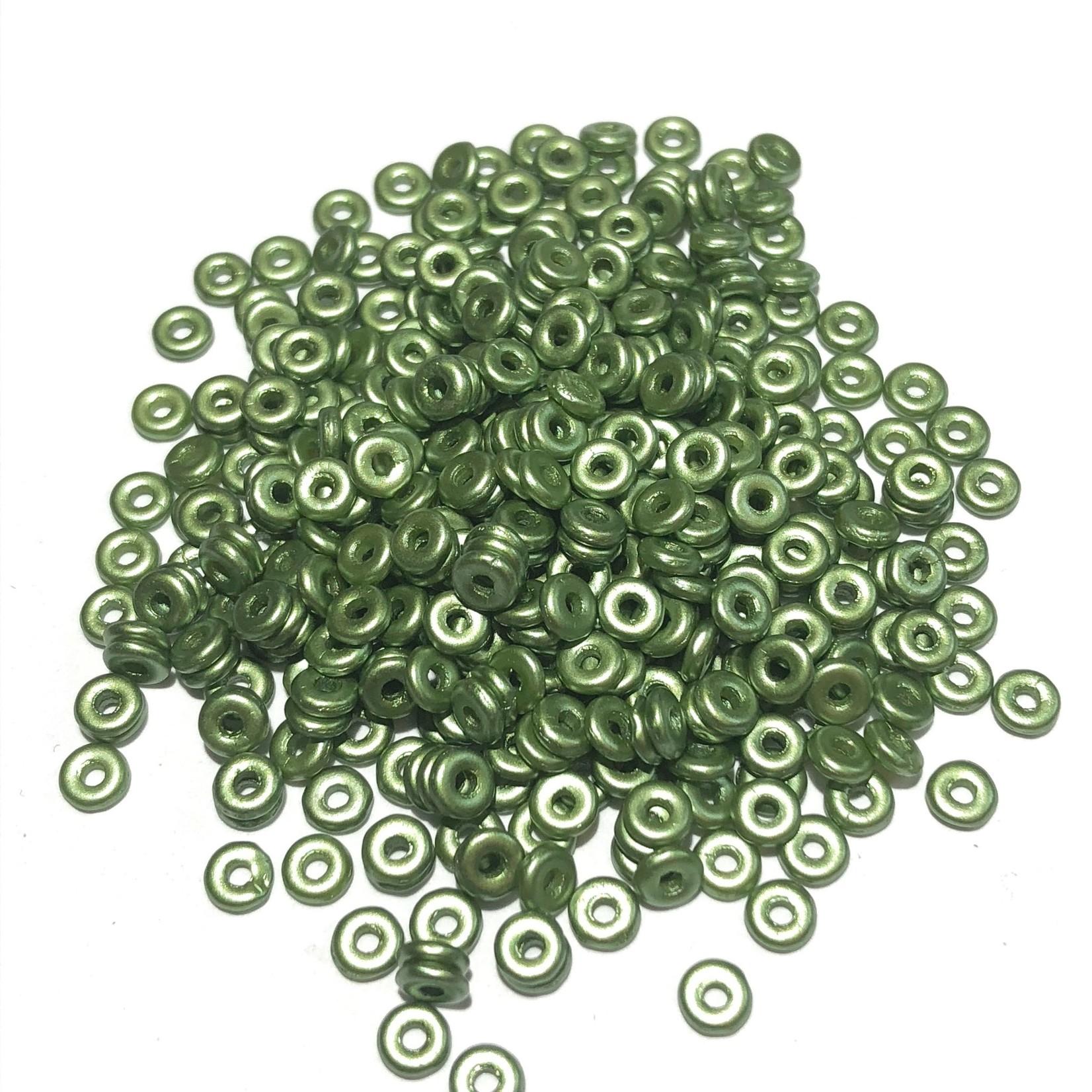 Czech O Beads Pastel Olivine 5g