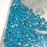 Preciosa Crystal 4mm Bicone Aqua Bohemica AB 144pcs