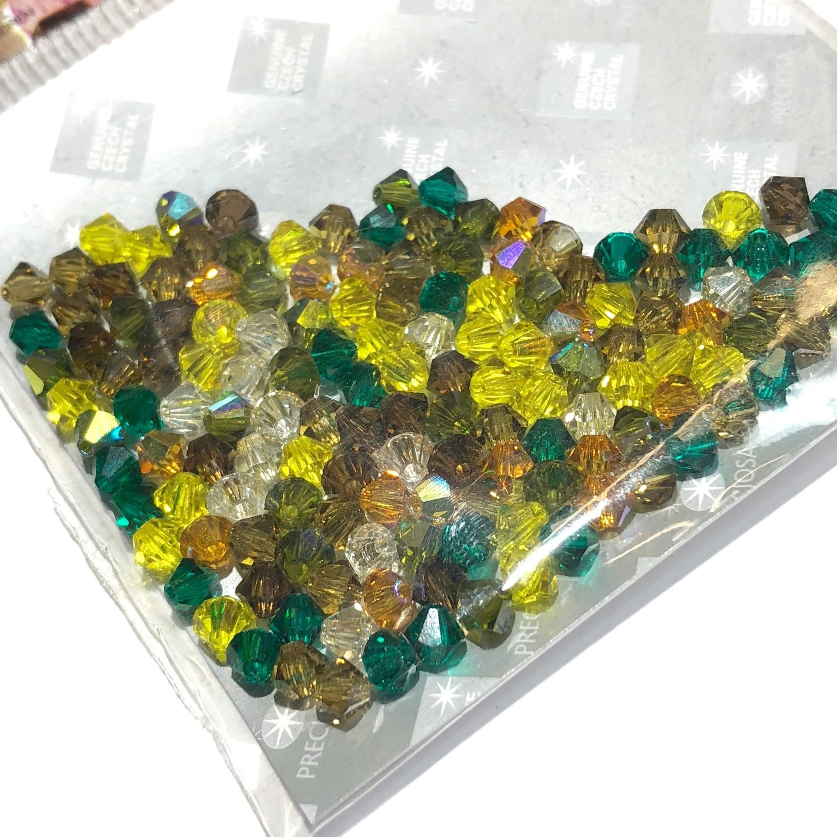 Preciosa Crystal 4mm Bicone MIX Earthtone 144pcs
